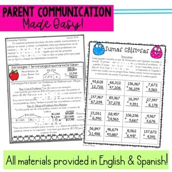 Math Newsletters & Games 4th Grade Module 1 Engage NY/Eureka