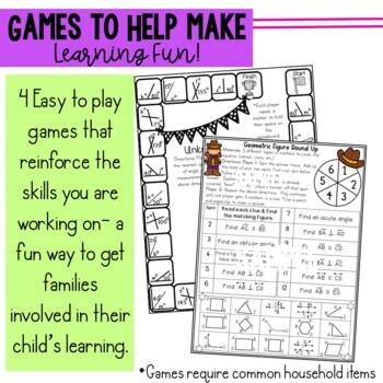 Math Newsletters & Games 4th Grade Module 4 Engage New York/ Eureka Math