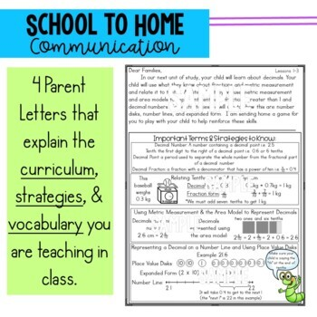 Math Newsletters & Games 4th Grade Module 6 Engage New York/ Eureka Math