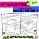 Math Newsletters & Games 4th Grade Module 7 Engage New York/ Eureka Math