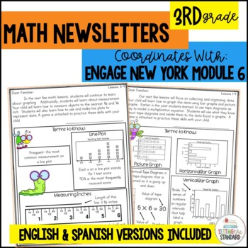 Math Newsletters & Games 3rd Grade Module 6 Engage New York