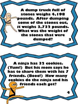 Math Ninja Scoot Game-Choose the operation