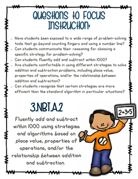 Math NO PREP Numbers & Operations in Base Ten - Grade 3