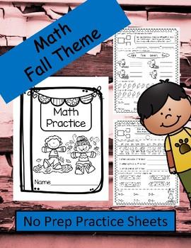No Prep Math Practice (Fall Theme)