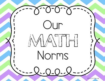 Math Norms Posters