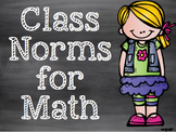 Math Norms for the Growth Mindset Classroom