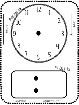 Math Notebook Add In: Telling Time