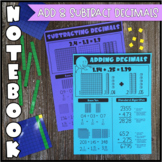 Math Notebook: Adding and Subtracting Decimals (Personal A