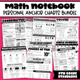 Math Notebook: All 5th Grade Personal Anchor Charts! (Grow