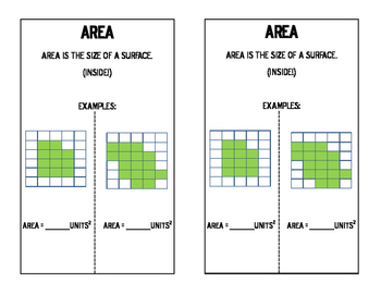 Math Notebook: Area