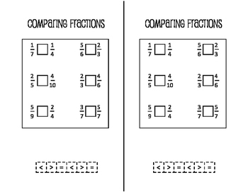 Math Notebook: Comparing Fractions