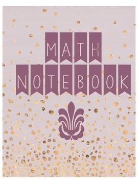 Math Notebook Cover