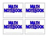 Math Notebook Cover Freebie