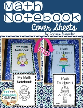 Math Notebook Cover Sheet FREEBIE