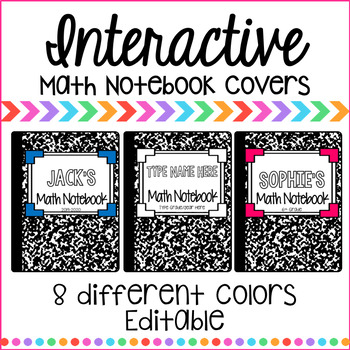 Math Notebook Covers