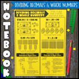 Math Notebook: Dividing Decimals & Whole Numbers (Personal