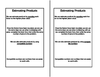 Math Notebook - Estimating Products