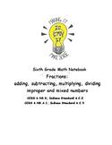 Math Notebook Fraction Unit