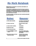 Math Notebook Guidelines