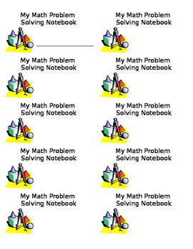 Math Notebook Label