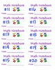 Math Notebook Labels - Printable on Avery 5163