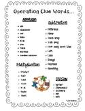 Math Notebook - Math Clue Word
