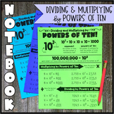 Math Notebook: Exponents and Powers of Ten (Personal Ancho