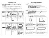 Math Notebook Notes: Classify Quadrilaterals