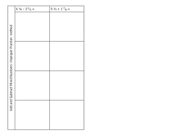 Math Notebook Notes: Fraction Bars