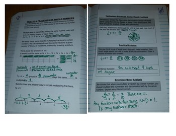Math Notebook Notes: GCF and Simplifying