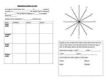 Math Notebook Notes: Geometry Bundle