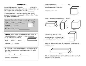 Math Notebook Notes: Measurement Bundle