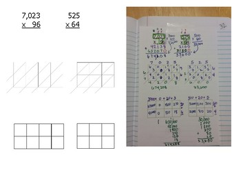 Math Notebook Notes: Multiplying 2 digit numbers