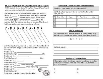 Math Notebook Notes: Number and Number Sense Bundle