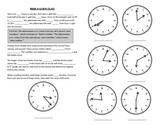 Math Notebook Notes: Read a Clock
