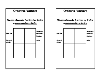 Math Notebook: Ordering Fractions