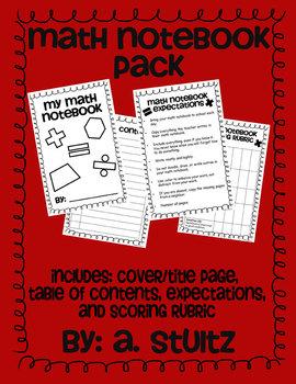 Interactive Math Notebook Pack