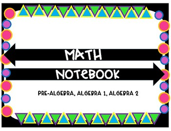 Math Notebook Pages