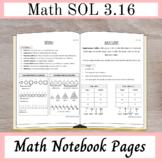 Math Notebook Pages (Math SOL 3.16 - Patterns)