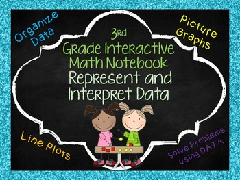 Math Notebook Pages: Represent and Interpret Data Aligned with 3rd gr. GoMath