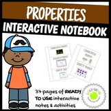 Math Notebook Properties Foldables and Printables Pack