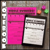 Math Notebook: Read, Write & Understand Whole Numbers (Per