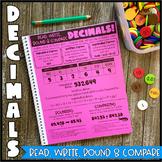 Math Notebook: Read, Write, Round & Compare Decimals (Pers