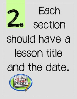 Math Notebook Rules