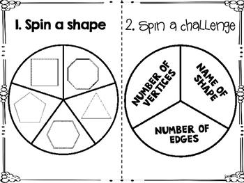 Math Notebook Spinner Activities