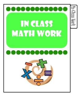 Math Notebook Tabs
