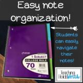 Math Notebook Tabs & I Can Statements - 5th Grade AZ