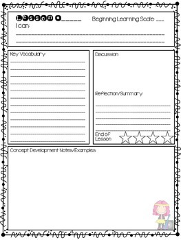 Math Notebook Template/Layout for Engage NY