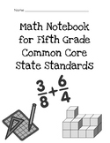 Math Notebook for Fifth Grade Common Core State Standards