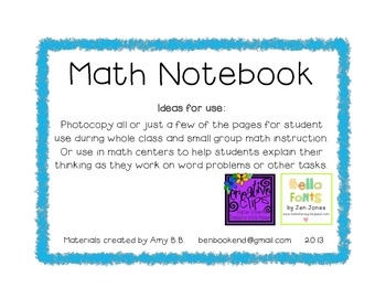 Math Notebook template